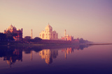 Taj Mahal India Seven Wonders Concept Photographic Print by  Rawpixel