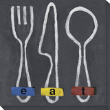 eat Stretched Canvas Print by  Koconis