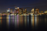 Boston Skyline at Night, Massachusetts, USA Photographic Print by  jiawangkun