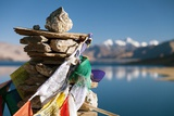 Tso Moriri Lake with Prayer Flags Photographic Print by Daniel Prudek
