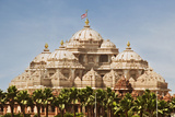 Facade of a Temple, Akshardham, Delhi, India Photographic Print by  jackmicro