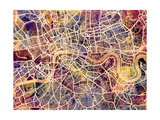 London England City Street Map Photographic Print by Michael Tompsett
