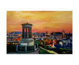 Edinburgh Scotland Skyline with Arthurs Seat at Du Giclee Print by Markus Bleichner