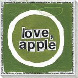 Love, apple Stretched Canvas Print by  Koconis