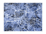 Glasgow City Street Map Photographic Print by Michael Tompsett