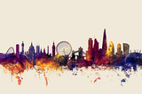 London England Skyline Posters by Michael Tompsett