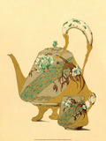 Art Nouveau Teapot and Cup, Plate 33 Prints by Jules-Auguste Habert-Dys