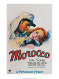 Vintage Movie Poster - Gary Cooper in Morocco Prints