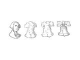 George Washington Liberty Bell - Cartoon Premium Giclee Print by John O'brien