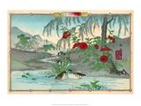 Ducks in Iris Pond Posters by Rinsai Utsushi