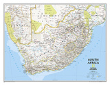 National Geographic South Africa Map Kunstdruck