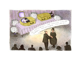 Magician's funeral - Cartoon Premium Giclee Print by John O'brien