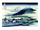 Katsushika Hokusai - Umegawa in Sagami Province - Reprodüksiyon