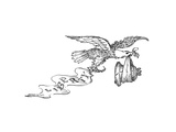 Eagle and Liberty Bell - Cartoon Premium Giclee Print by John O'brien