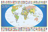 National Geographic Kids World Political Map Poster