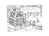 Candy house being sold. - Cartoon Premium Giclee Print by John O'brien