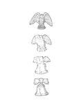 Eagle transforms into Liberty bell - Cartoon Premium Giclee Print by John O'brien
