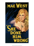 Vintage Movie Poster - Mae West in She Done Him Wrong Posters