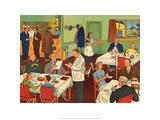 Vintage Classroom Poster - Restaurant Poster