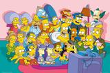 The Simpsons Sofa Cast Plakát