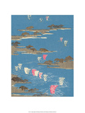 Japanese Textile Woodblock, Boat Sails Prints