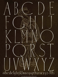 Alphabet, Typography Poster