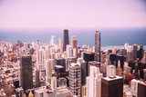 Modern Chicago Skyline Aerial View Poster by  Yulia1986