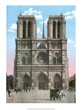 Vintage Paris Postcard - Notre-Dame Prints