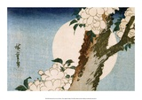 Flowering Cherry Tree and Full Moon Affiches par Utagawa Hiroshige