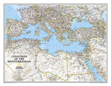 National Geographic Countries Of The Mediterranean Map Posters