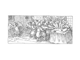 Eagle Feathers - Cartoon Premium Giclee Print by John O'brien