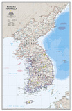 National Geographic Korean Peninsula Map Photo