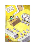 Milk men at sperm bank - Cartoon Premium Giclee Print by John O'brien