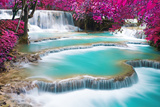 Turquoise Water of Kuang Si Waterfall Photographic Print by Preto Perola