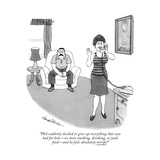 """""""Phil suddenly decided to give up everything that was bad for him—no more . Premium Giclee Print by J.B. Handelsman"""