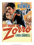 Vintage Movie Poster - The Mark of Zorro Print