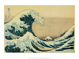 Great Wave off Kanagawa Kunst af Katsushika Hokusai