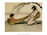 A Windy Ride, 1913, Children Playing Print by Helen Hyde