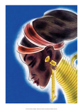 African Beauty with Neckpiece Posters by Frank Mcintosh