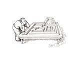 Fish maze - Cartoon Premium Giclee Print by John O'brien