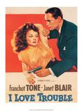 Vintage Movie Poster - I Love Trouble Art