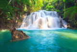 Huai Mae Khamin Waterfall Photographic Print by Tee Theerapol