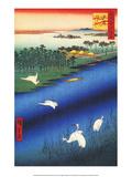 Sakasai Ferry Poster by Utagawa Hiroshige