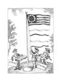 Stars and stripes - Cartoon Premium Giclee Print by John O'brien
