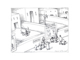 Animals at zoo - Cartoon Premium Giclee Print by John O'brien