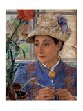 Jeanette Rubenson Crocheting , 1883 Posters by Ernst Josephson