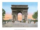 Vintage Paris Postcard - L'Hotel de Ville Print