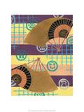 Japanese Textile Woodblock, Fans Prints