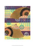 Japanese Textile Woodblock, Fans Prints