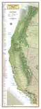 National Geographic Pacific Crest Trail Map Plakater